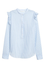 Light blue/White striped