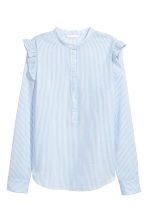 Cotton blouse - Light blue/White striped - Ladies | H&M 2