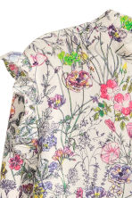 Cotton blouse - Natural white/Floral - Ladies | H&M 3