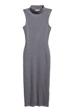 Bodycon dress - Dark grey marl - Ladies | H&M CN 2