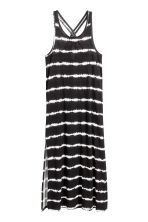Printed maxi dress - Black/White -  | H&M CA 2