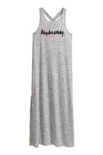 Printed maxi dress - Grey marl - Kids | H&M CN 2