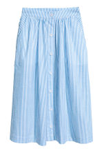 Seersucker skirt - Light blue/White striped -  | H&M CN 2