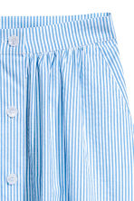 Seersucker skirt - Light blue/White striped -  | H&M 3