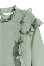Double-layered chiffon blouse - Dusky green - Ladies | H&M CN 3
