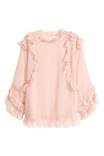 Double-layered chiffon blouse - Powder pink - Ladies | H&M CN 2