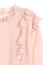Double-layered chiffon blouse - Powder pink - Ladies | H&M CN 3