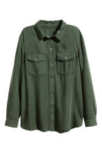 Lyocell utility shirt - Dark green - Ladies | H&M 2