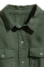 Lyocell utility shirt - Dark green - Ladies | H&M 3