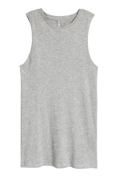 Sleeveless jersey dress - Grey marl - Ladies | H&M CN 1