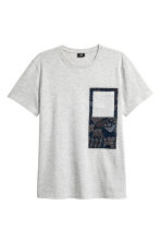 Cotton jersey T-shirt - Grey marl - Men | H&M 2