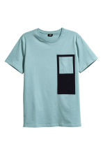 Cotton jersey T-shirt - Light petrol - Men | H&M CN 2
