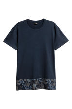 Cotton jersey T-shirt - Dark blue - Men | H&M 2