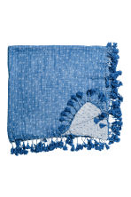 Cotton scarf with tassels - Blue/Patterned - Ladies | H&M 2