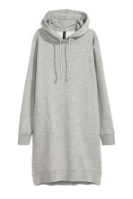 Hooded sweatshirt dress - Grey marl - Ladies | H&M CN 2