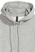 Hooded sweatshirt dress - Grey marl - Ladies | H&M CN 3