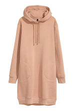 Hooded sweatshirt dress - Beige - Ladies | H&M CN 2