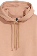 Hooded sweatshirt dress - Beige - Ladies | H&M CN 3