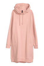Hooded sweatshirt dress - Old rose - Ladies | H&M 2