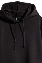 Hooded sweatshirt dress - Black - Ladies | H&M CN 3