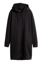 Hooded sweatshirt dress - Black - Ladies | H&M CN 2