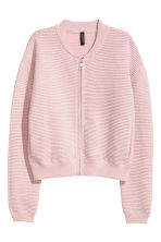 Glittery cardigan - Light pink - Ladies | H&M CN 2