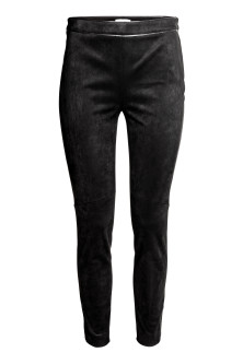 Imitation suede trousers