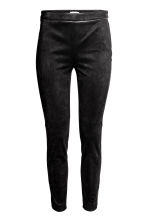 Imitation suede trousers - Black - Ladies | H&M CN 2