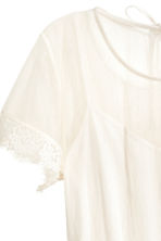 Mesh dress - Natural white -  | H&M 3