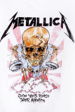 Short T-shirt - White/Metallica - Ladies | H&M GB 3