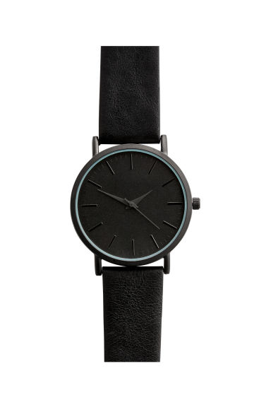 Watch with a leather strap - Black - Men | H&M CN 1
