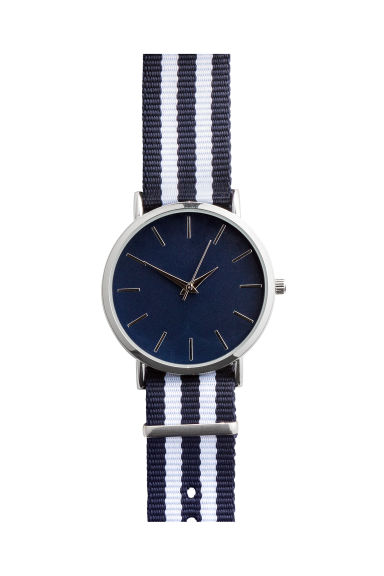 Watch - Blue/White striped - Men | H&M IE 1