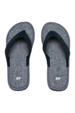 Flip-flops - Dark blue/Chambray - Men | H&M 2