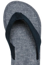 Flip-flops - Dark blue/Chambray - Men | H&M 3