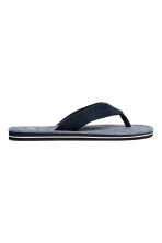 Flip-flops - Dark blue/Chambray - Men | H&M 1