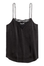 Strappy crêpe top - Black - Ladies | H&M CN 2