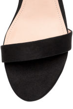 Ankle-strap sandals - Black - Ladies | H&M CN 4