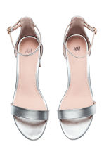 Ankle-strap sandals - Silver - Ladies | H&M CN 2