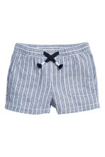 Pull-on shorts - Blue/Striped -  | H&M 1