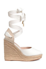 Wedge-heel espadrilles - White -  | H&M 2