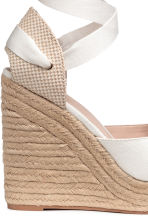 Wedge-heel espadrilles - White -  | H&M 5