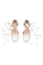 Wedge-heel espadrilles - White - Ladies | H&M 3