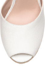 Wedge-heel espadrilles - White -  | H&M 4
