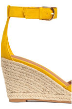 Wedge-heel sandals - Yellow - Ladies | H&M 4
