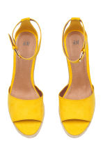 Wedge-heel sandals - Yellow - Ladies | H&M CA 2