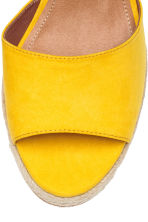 Wedge-heel sandals - Yellow - Ladies | H&M CA 3