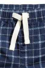 Cotton shorts - Dark blue/Checked - Kids | H&M 2