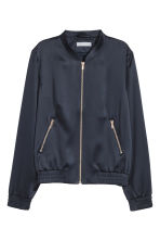 Satin bomber jacket - Dark blue - Ladies | H&M 2