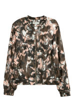 Bomber in satin - Cipria/fantasia - DONNA | H&M IT 2
