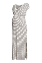 MAMA Jersey dress - White/Striped - Ladies | H&M CN 1
